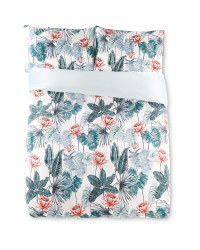 Double Tropical Floral Duvet Set