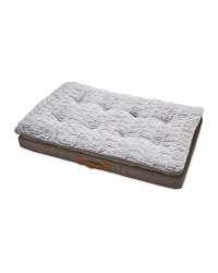 Faux Suede Memory Foam Pet Bed