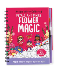 Flower Magic Water Colouring Book