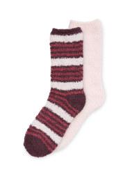 Children's Fluffy Socks Size 12-2 - Violet/Lilac