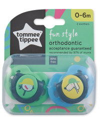 Fun Soothers 0-6 Months 2 Pack - Blue/Green