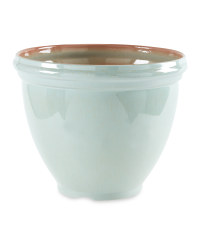 Gardenline Glazed Effect Pot - Green