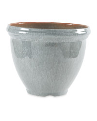 Gardenline Glazed Effect Pot - Grey
