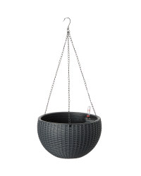 Gardenline Hanging Planter - Black