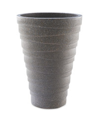 Gardenline Round Tall Planter - Charcoal