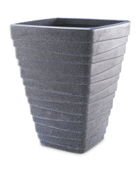 Gardenline Square Tall Planter - Granite