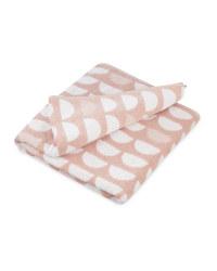 Geo Blush Pink Bath Sheet