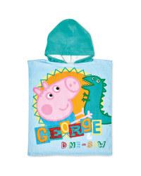 George Pig Hooded Poncho Towel