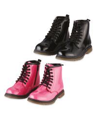 Lily & Dan Girls Patent Winter Boot