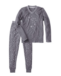 Ladies' Grey Terry Pyjamas