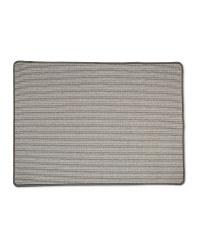 Grey Striped Washable Utility Mat