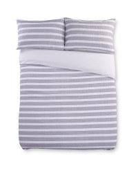 Grey Yarn Double Duvet Set