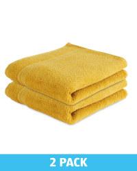 Kirkton House Hand Towels 2 Pack - Mustard