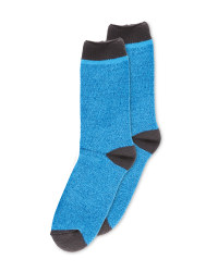 Mens Heat For Your Feet Socks - Blue Mix
