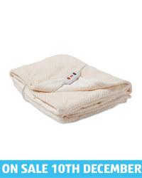 Heated Electric Blanket - Light Cream