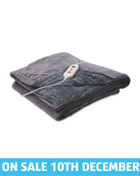 Heated Electric Blanket - Light Grey