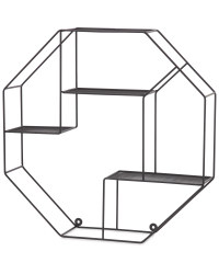 Kirkton House Hexagon Wire Shelf - Black