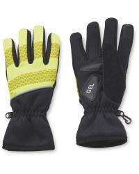 Crane Yellow Cycling Gloves