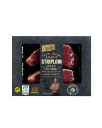 Irish Angus 8oz Striploin Steaks
