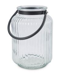 Kirkton House Black Glass Lantern