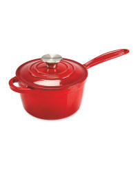 Kirkton House Cast Iron Saucepan - Red