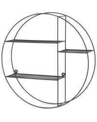 Kirkton House Circular Wire Shelf - Black