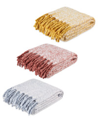 Kirkton House Faux Mohair Throw