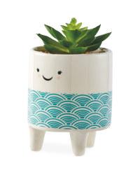 Kirkton House Green Smiley Plant Pot