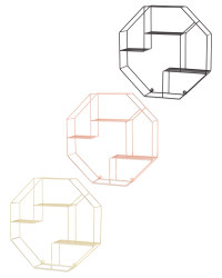 Kirkton House Hexagon Wire Shelf