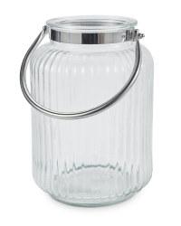 Kirkton House Silver Glass Lantern