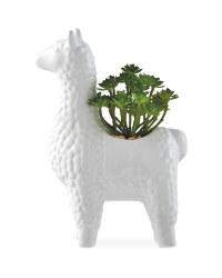 Kirkton House White Llama Plant Pot
