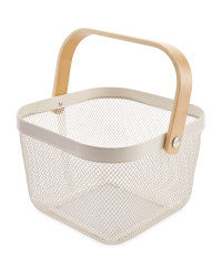 Kitchen Storage Baskets - Cream