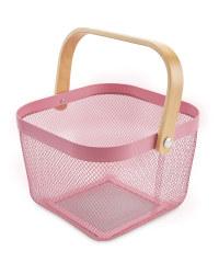 Kitchen Storage Baskets - Pink