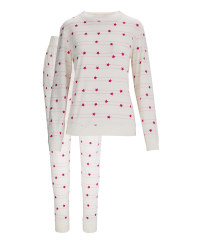 Ladies' Avenue Star Pyjamas - Pink Mix