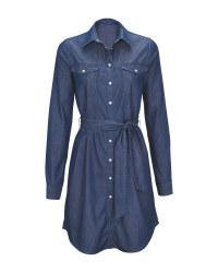Ladies' Blue Denim Dress
