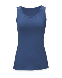 Ladies' Blue Yoga Vest