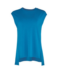 Ladies' Blue Fitness Vest Top