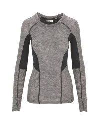 Ladies' Grey Base Layer Top