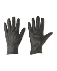 Ladies' 3 Point Leather Gloves - Black