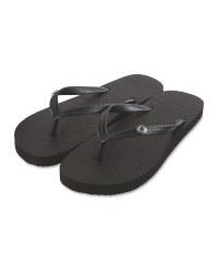 Avenue Ladies' Black Flip Flops