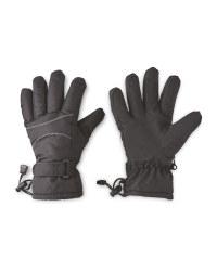 Ladies' Black/White Gloves