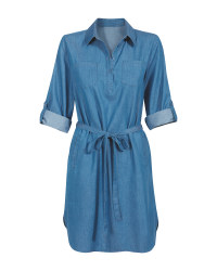 Avenue Ladies' Blue Denim Dress