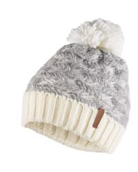 Ladies' Grey/White Bobble Hat