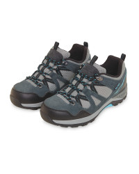 Grey/Aqua Ladies' Trekking Shoes