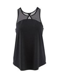 Crane Ladies Vest Top - Black