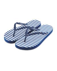 Ladies' White Flip Flops