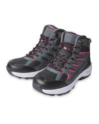 Ladies/Mens Walking Boots Grey/Red