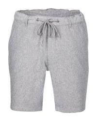 Avenue Men's Linen Blend Shorts - Grey