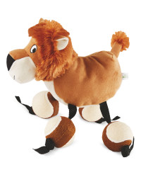 Lion Plush Ball Feet Dog Toy