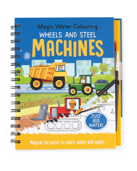 Machines Water Colouring Book